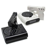 Creative alarm clock cute pistol shooting fire alarm clock