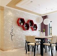 2014 New Arrival Non-woven Flocking Wallpaper Bedroom Living Room Study A200;A201;A204 papel de parede