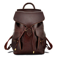women backpack leather bags vintage backpack school backpacks shiny leather women travel bags