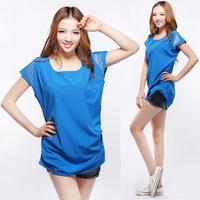 2013 summer spring women's short-sleeve T-shirt brief o-neck loose female plus size short-sleeve