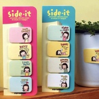 Free shipping Biscuits girl sticky | Small notes / N times posted memo note office stationery 12pcs/lot