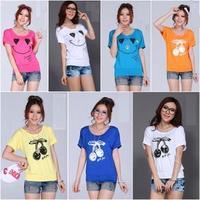 Mm2013 plus size loose t-shirt female summer women's batwing shirt round neck short-sleeve T-shirt