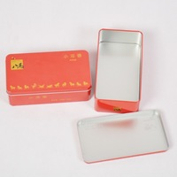 Blue Bai Stationery--Hot sale New style Red color metal jewelry box,tin box,storage case,tea boxes 350