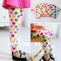 Little Gentleman Wholesale Children's Clothing Colorful Heart Full Printed Kids Girls Leggings Elastic Child Skirt Legging/Pants