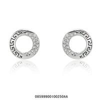 Fashion jewelry.Women stud earrings.Free shipping.Rhinestone stud earrings.18KGP  White gold stud earrings, Two color optional.