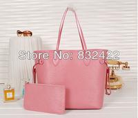 32CM 7 Colors New Arrival High Quality L Neverfull Cowhide Leather handbag women's Name Brands Designer Shoulder Messenger bags