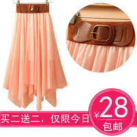 Spring and summer new arrival bohemia full dress beach dress expansion bottom irregular bust skirt