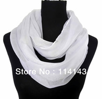 Fashion Infinity Scarf Solid Plain Color Circle Cowl Cowl Ladies Scarves Accessories, Free Shipping
