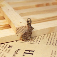 bunny design pendants alloy pendants component   LUCKY Charms Accessories Jewelry Findings  FREE SHIPPING wholesale