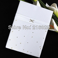 """Free Shipping """"Love Ever Lasting"""" Guest Book with Folded Blank Pages Wedding Decoration Party Ceremony Supplies"""