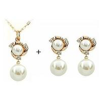 A021 Fashion Alloy Rhinestone Necklace Earring Set,Rhinestone Wedding Jewelry Set Free Shipping B9 5D