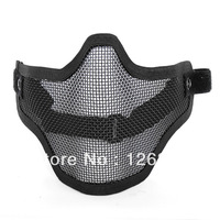 Metal Net Mesh Protect Mask Airsoft Hunting Half Face