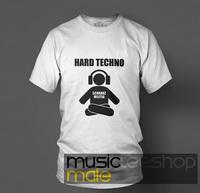 Spring 2013 100% T-shirt cotton o-neck short-sleeve shirt dj hard techno white