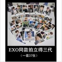 Xoxo growl exo polaroid lomo three generations of card full set