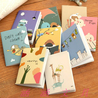 Min.order is $5 Small Mini Cartoon Animal Memo Pad Cute Diary Notepad Note Paper Notebook School Promotion Gifts