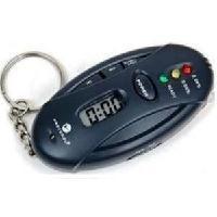 LED Digital Breath Alcohol Tester Analyzer & Timer with Flashlight Key Chain(China (Mainland))