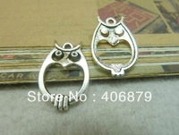 Min. order is $8(mix order) 20pcs 16*22mm Vintage Antique Silver Owl Charm Pendant  DIY Accessory Free Shipping C6609