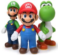 new 2014 hot toys 3pcs/lot Super Mario Bros Luigi Mario Action Figures Toys Anime fingure Doll-13cm free shipping