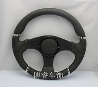 Free Shipping 2014car styling modifications latest MOMO steering wheel / leather steering wheel / racing wheel