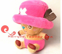 18cm pink  plush chopper plush toys kids toy one piece toy tony tony chopper  one piece free shipping