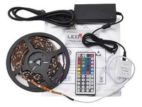 LEDwholesalers 16.4ft RGB Color Kit with LED Flexible Strip, Controller with 44button Remote and Power Supply, 2034RGB+3315+3215