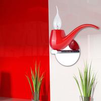 Meiqi lighting individuality brief smoking pipe wall lamp aisle lights corridor lights lamp red 3