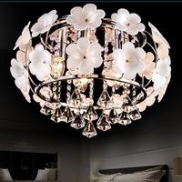 Lamp bedroom lamp led ceiling light crystal pendant light brief modern lighting