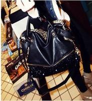 2014 New fashion casual leopard print bags one shoulder handbag women's handbag leather messenger bag free shipping200-7