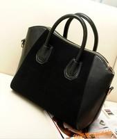 Hot Sale! Bag fashion bags 2014 patchwork nubuck leather women's handbag smiley shoulder bags200-4