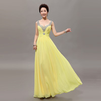 Free shipping 2014 long design bridal plus size wedding dress evening dress female fashion annual meeting of company