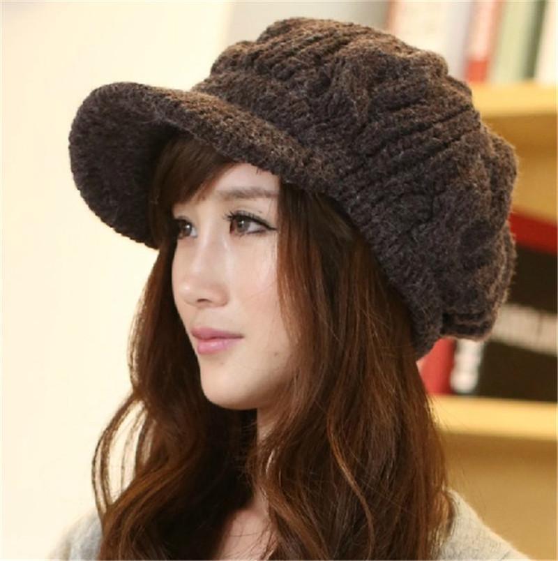 New 2014 Women Winter Hats Girls' Warm Wool Twist Knitted Hat Fashion Beanies Woman Cap Accessories Hot Sale(China (Mainland))