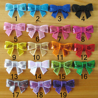 Size 40mm 50 pieces/lot fashion kids small Sequin hair bow for headbands children diy hair accessories for hair band