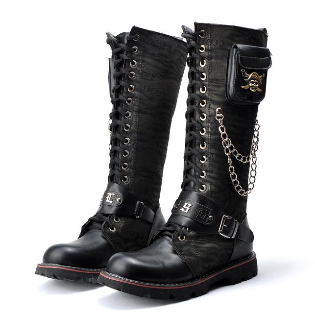 Boots Punk Punk Rock Boots Denim