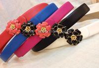 Free Shipping 2014 New Style Luxury Original Sheepskin Belt For Lady 3cm Wide