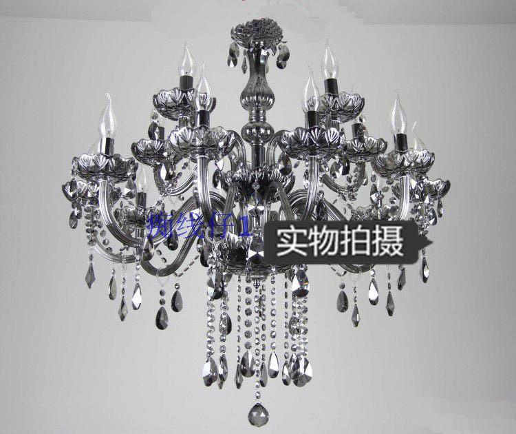 Lighting vacuum 14 smoky grey pendant light crystal lamp crystal pendant light(China (Mainland))