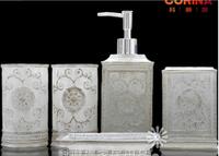 Home accessories resin bathroom series five pieces set gift set bathroom suite gift