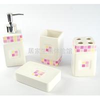 Ceramic bathroom four piece set shukoubei toothbrush dental tooth cup set