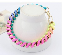 Fashion popular fashion all-match neon handmade knitted bracelet
