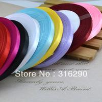 Fashion 6mm 50yds Ribbons Multicolor Grosgrain Ribbon/webbing decoration 25yards/roll/color polyester ribbon