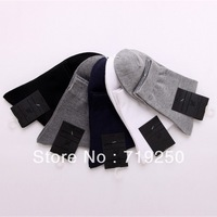 Free Shipping 10 Pairs/lot fashion socks Wholesale Men's Combed cotton Socks,Mens Solid color casual Socks,Free Size(39-44)