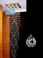 Square crystal lamp festivalthe lighting hall pendant light