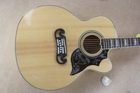 free shipping jumbo guitar sj200 43 inches  cutaway acoustic guitar different pickguard in stock