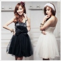 Free shipping bridesmaids dress 2014 tube top design short  dress autumn and winter dress