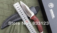 2014 new BOKER Camping Straight Knives Hunting Fixed Blade Knife D2 59-60HRC Blade with G10 Handle HK free shipping