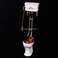 MINI CLUB- Beans doll house model ceramic toilet belt 30004 well-pumping