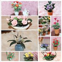 MINI CLUB- Doll house mini model clay flower bowyer