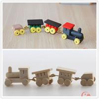 MIN CLUB- Mini dollhouse doll house model toy child real trainmen toy