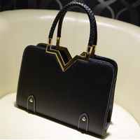 2014 autumn and winter sweet gentlewomen shaping women's handbag candy color women's handbag