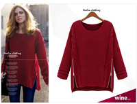 2014 Women's Sweater / cashmere (faux) cardigan ;  Women's Clothing Long Sleeves ,loose O-neck  2color free size