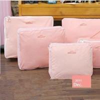 Free Shipping 2013 New Traveling Bag in Bag , Mesh pouch Nylon Organizer Bag (5pcs/set)